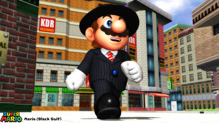 (MMD Model) Mario (Black Suit) Download