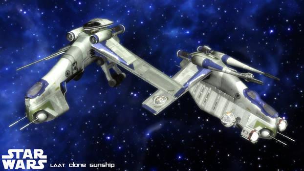 (MMD Model) LAAT Republic Gunship Download