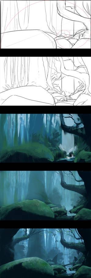 Ancient woods - Process