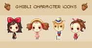 Ghibli Character Icons by Kiyorin