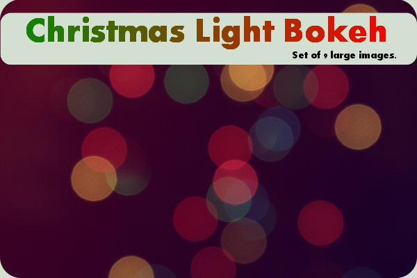 Christmas Light bokeh-pack-9 by asphyxiate-Stock