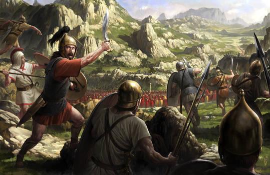Viriato against the Romans