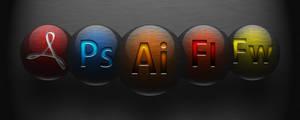 Adobe CS5 Icons Brushed metal