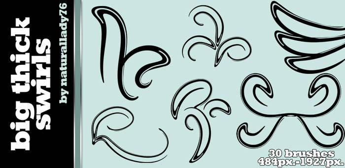 Big Thick Swirls:Brush Set: