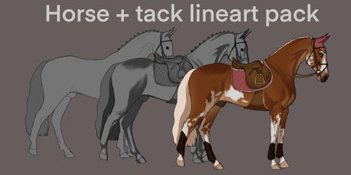 [LINEART PACK] Horse + tack