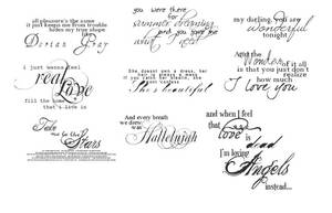 Beautiful Text Brushes by xXSternenkindXx