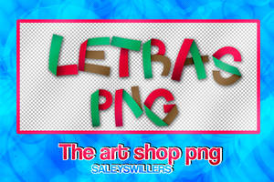 Letras Pack PNG [The art shop] #4 by irwinbae