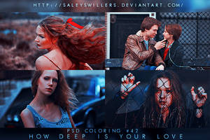 PSD COLORING #42 [HOW DEEP IS YOUR LOVE] by irwinbae