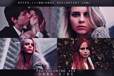 PSD COLORING #58 [DARK SIDE] by irwinbae