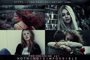 PSD COLORING #61 [NOTHING IS IMPOSSIBLE] by irwinbae