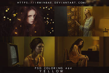 PSD COLORING #64 [YELLOW] by irwinbae