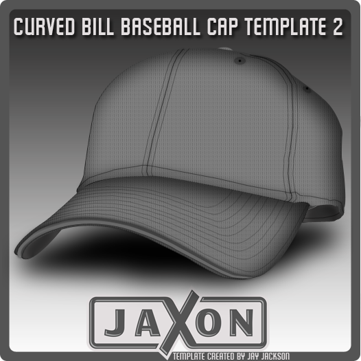 Curved Bill Baseball Template