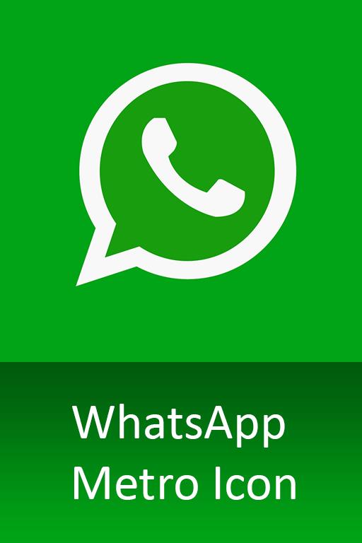 WhatsApp Metro Icon