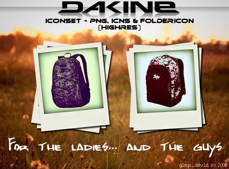 Dakine backpack iconset by g1mp-d4v1d