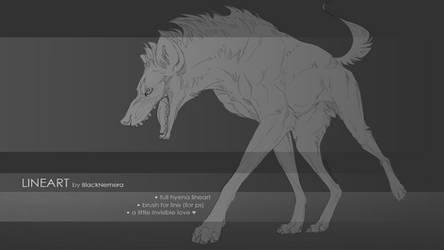 Hyena lineart base + brush for line