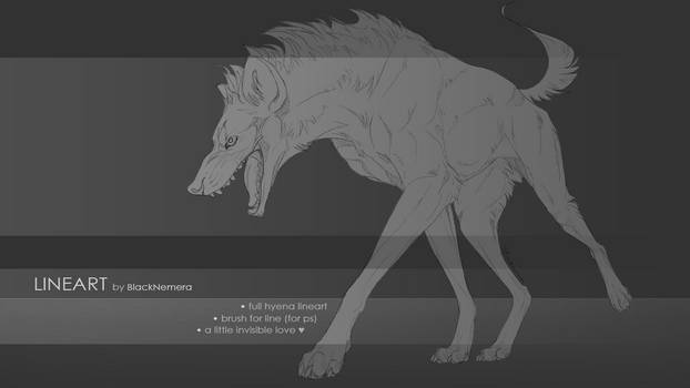 Hyena lineart base + brush for line [PAYPAL ADDED] by Blacknemera