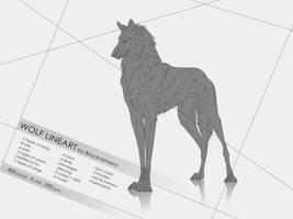 P2U Wolf Lineart