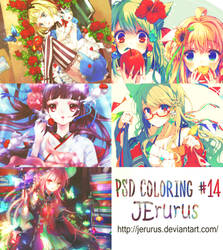 PSD coloring #14 by JErurus