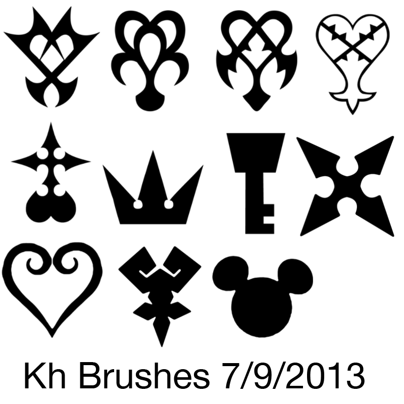 Kingdom Hearts Symbol Brushes By Shuzzy On Deviantart