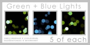 Green + Blue Light Textures