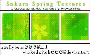 Sakura Spring Textures