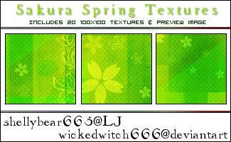 Sakura Spring Textures by wickedwitch666