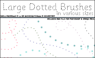 Large Dotted Brushes by wickedwitch666