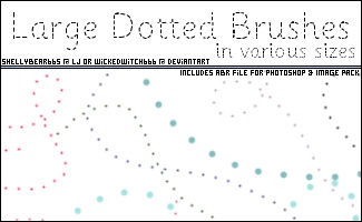 Large Dotted Brushes
