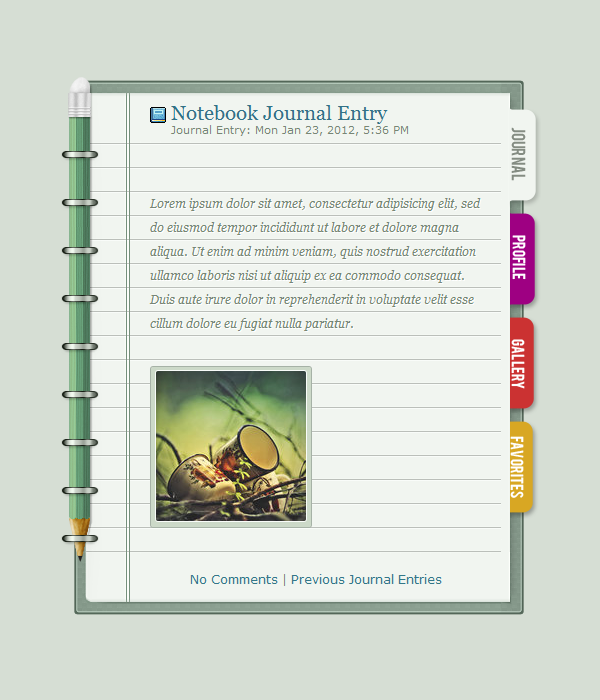 Notebook - Journal Skin by detrans