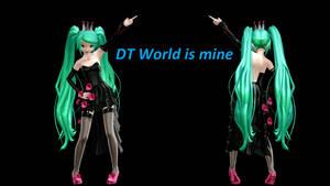 MMD DT Hatsune Miku DL World is mine DL