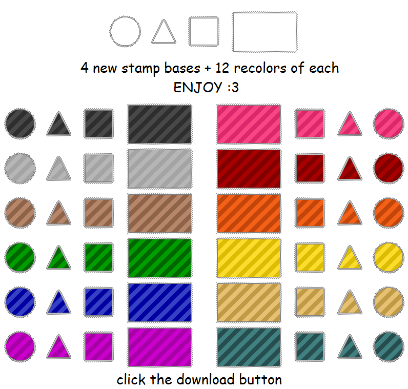 free stamp bases and templates - set 4 by Minakie