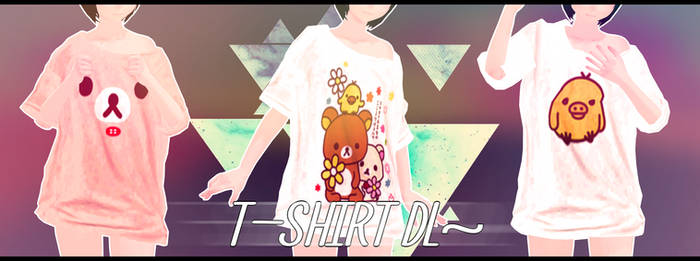 [MMD - Part] .: T-shirts ''Crooked collar'' :.+ DL by Nagai-Maro