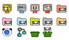 Panda icons by dodozhang21