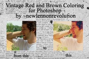 Vintage Red and Brown Coloring by newlennonrevolution