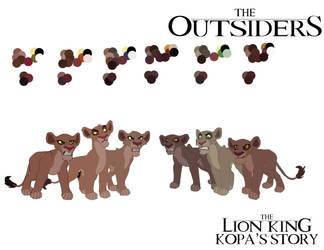 Outsiders Model Sheet by AndrewShilohJeffery