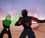 Luke vs Darth Maul