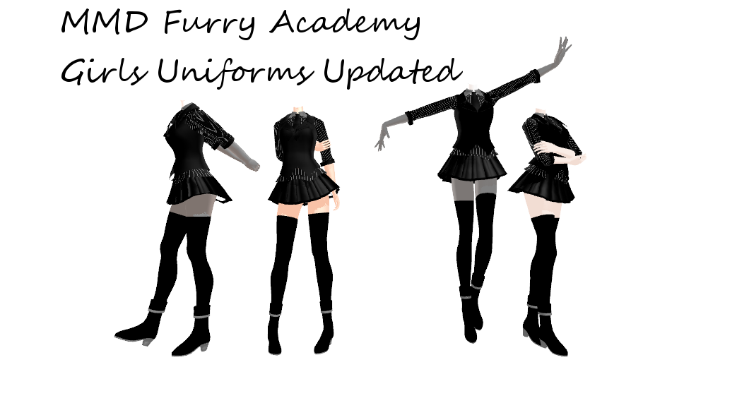 MMD Furry Academy Girls New Uniform by 2234083174
