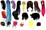 MMD Combined Hair Pack