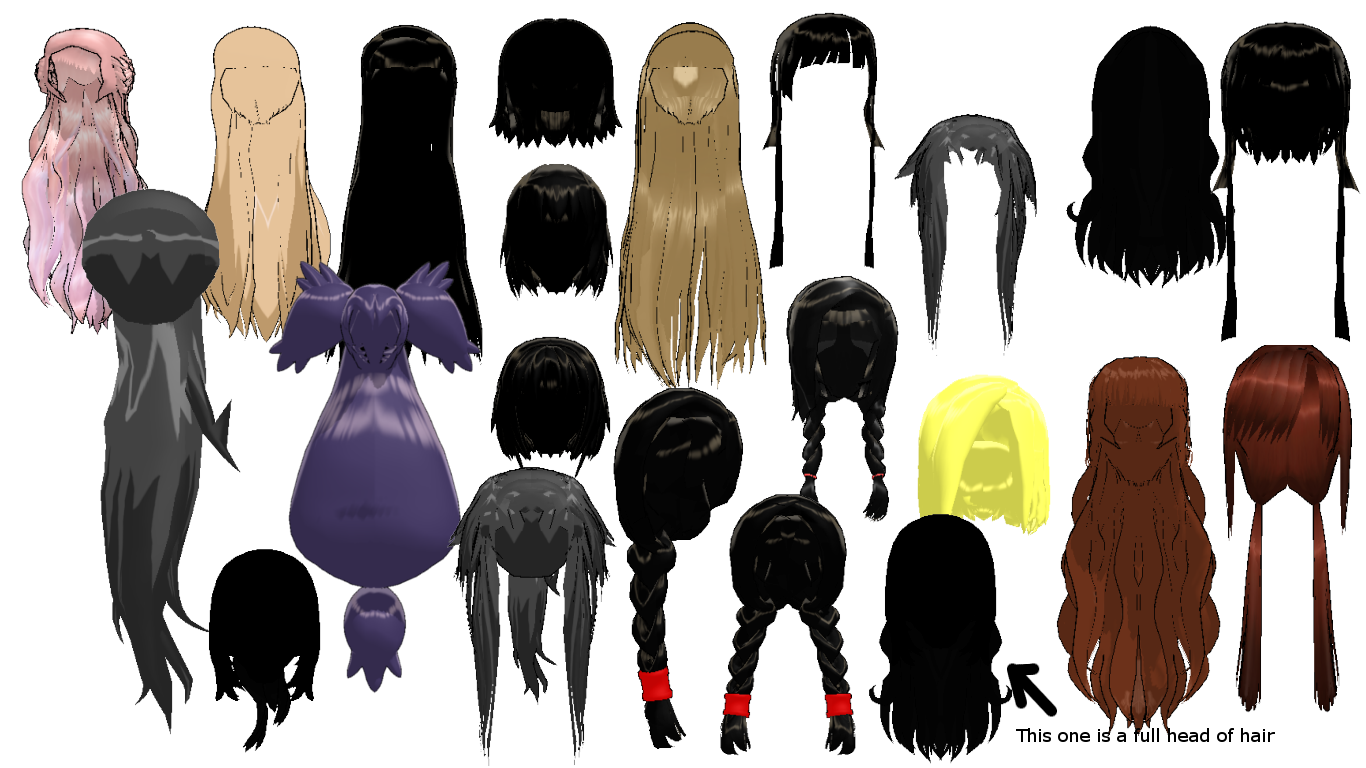 MMD Random Hair Pack 2 DL by 2234083174