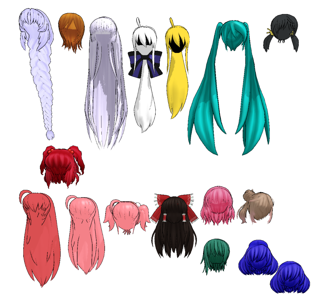 Mmd Nakao Hair Pack 2 Dl By 2234083174 On Deviantart