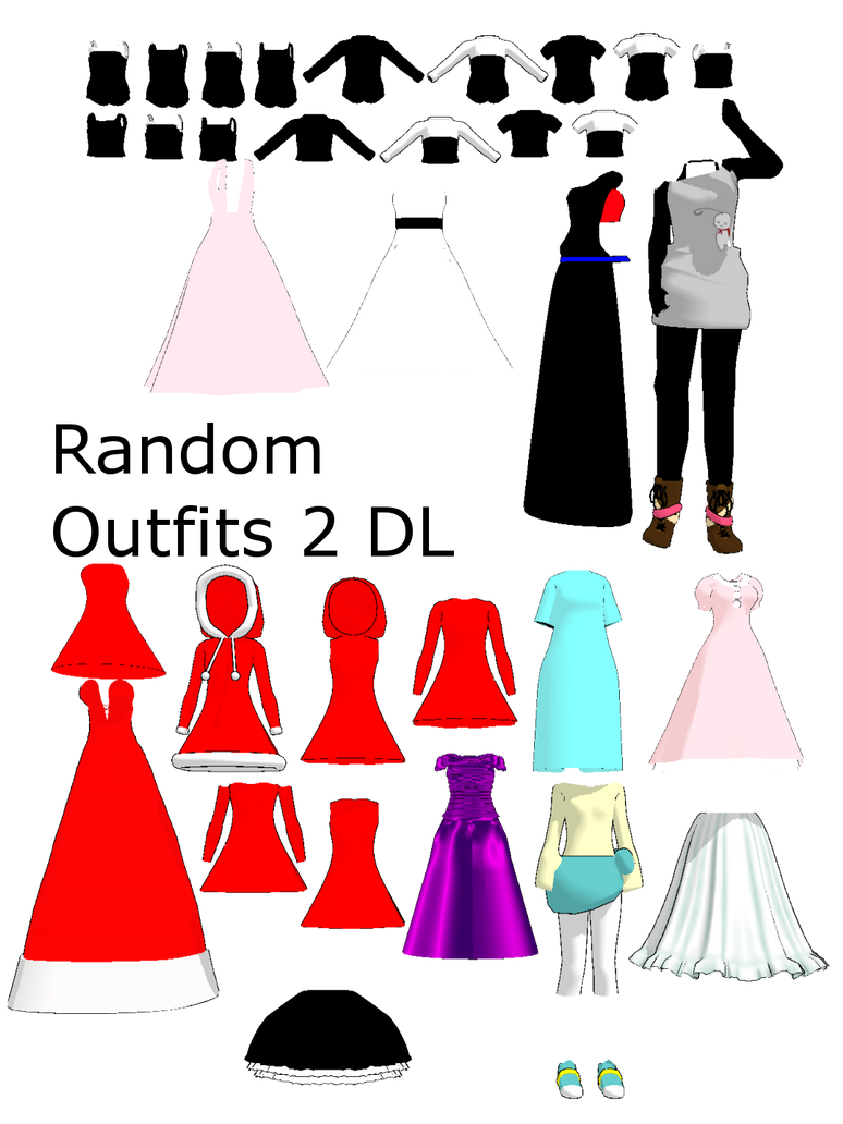 MMD Random Outfits 2 by 2234083174