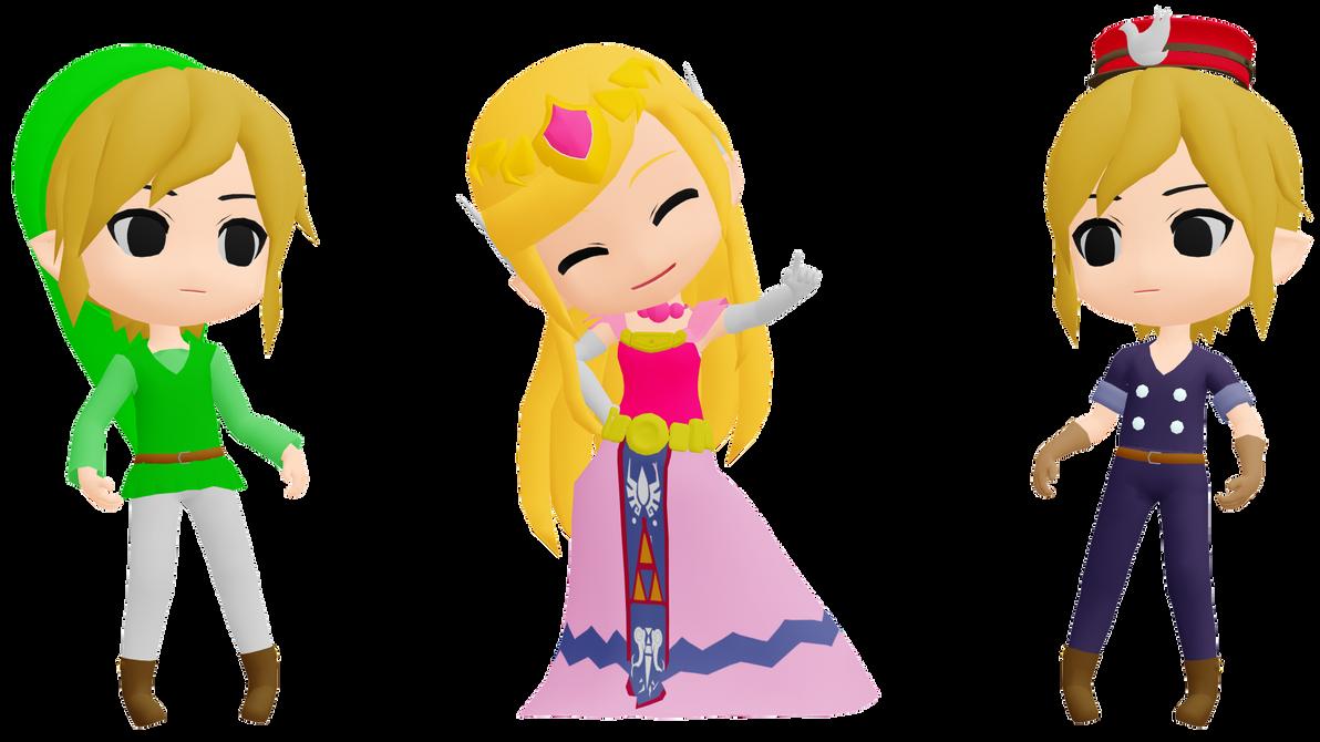 MMD Toon Link and Toon Zelda DL by 2234083174 on DeviantArt
