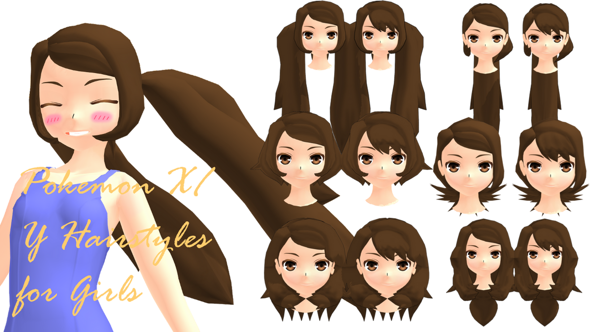 Mmd Pokemon Xy Girls Hairstyles Dl By 2234083174 On Deviantart