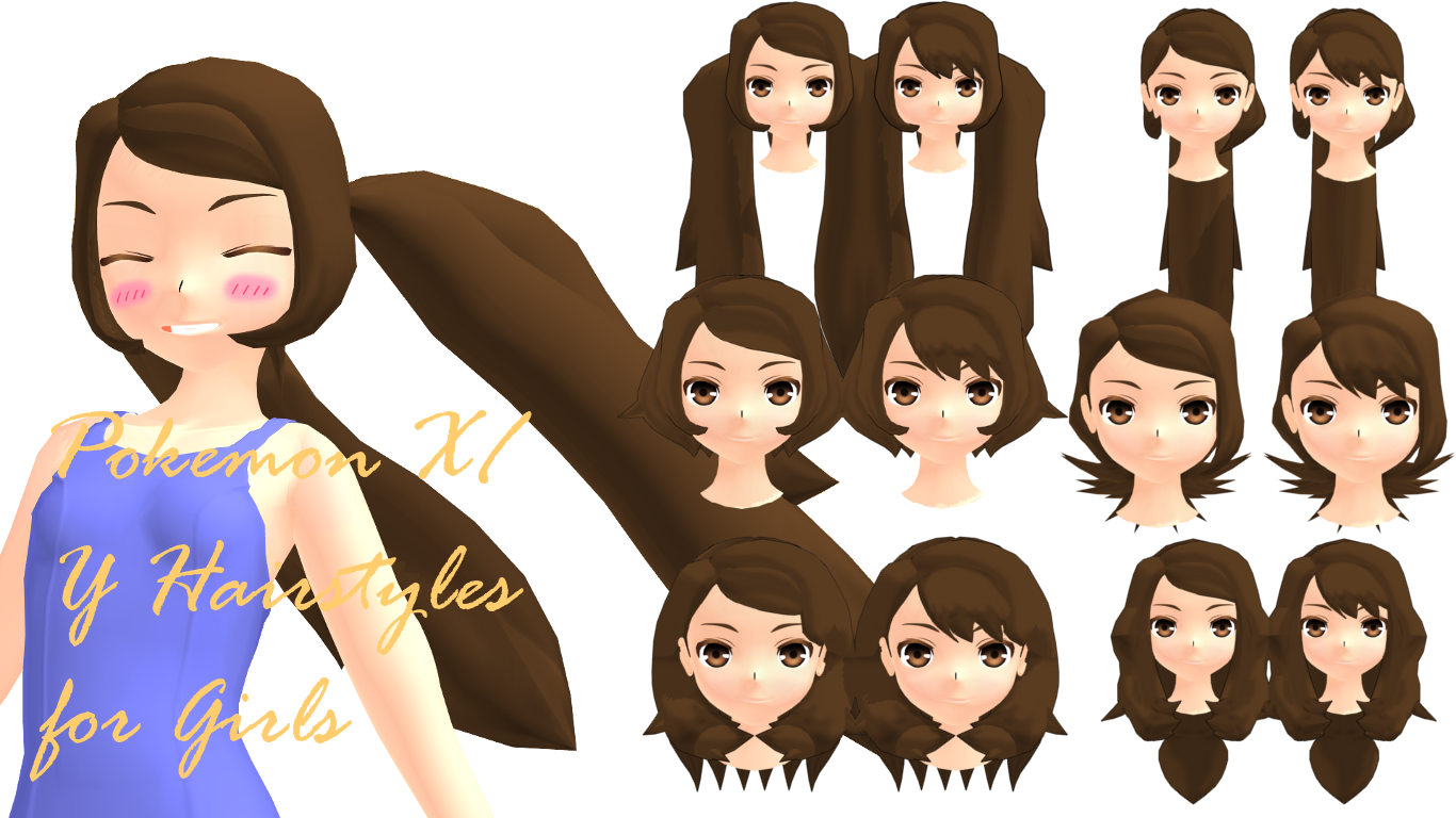Hairstyles Xy : MMD Pokemon XY Girls Hairstyles DL by 2234083174 on DeviantArt