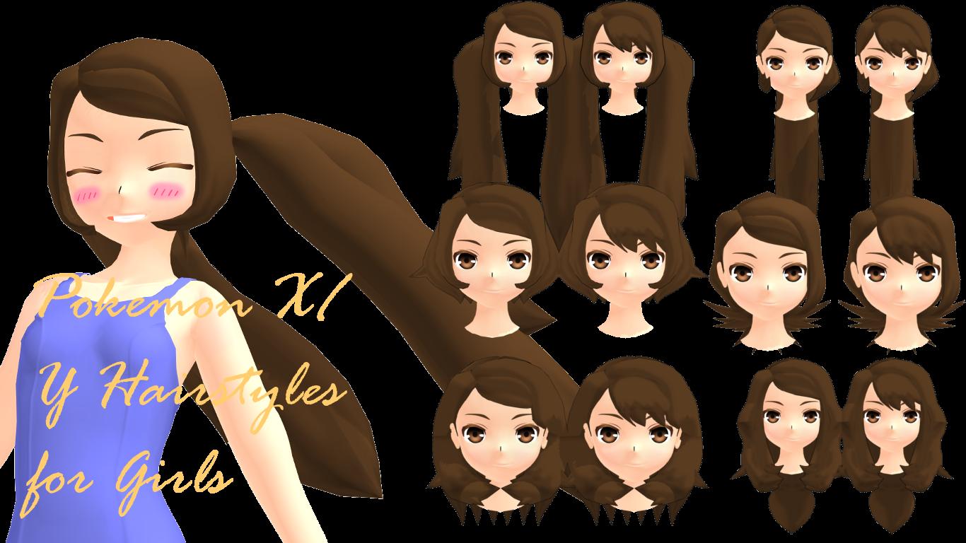 Mmd Pokemon Xy Girls Hairstyles Dl By 2234083174 On Deviantart