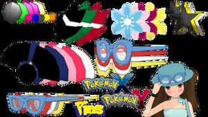 MMD Pokemon XY Hat Pins DL