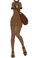 MMD Overalls Outfit DL