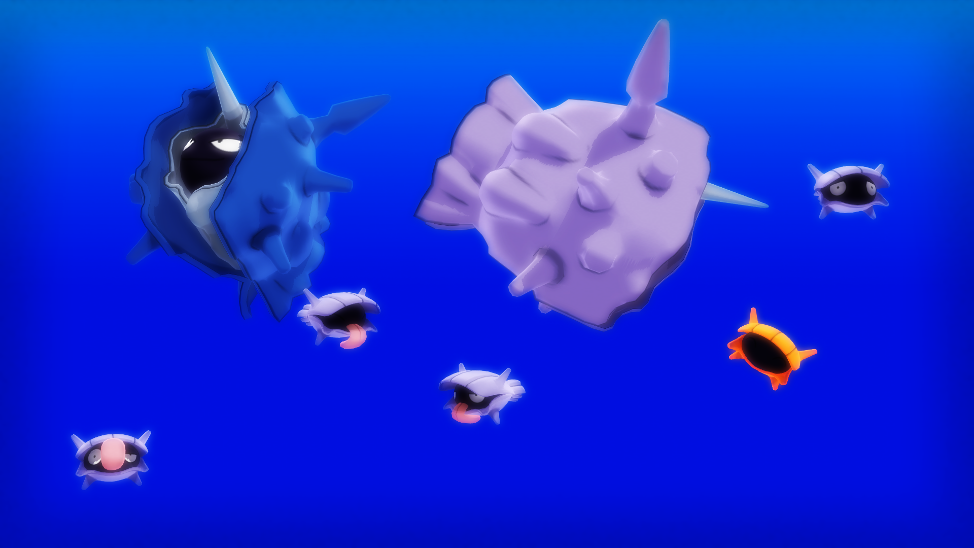 MMD  PK Shellder and Cloyster DL
