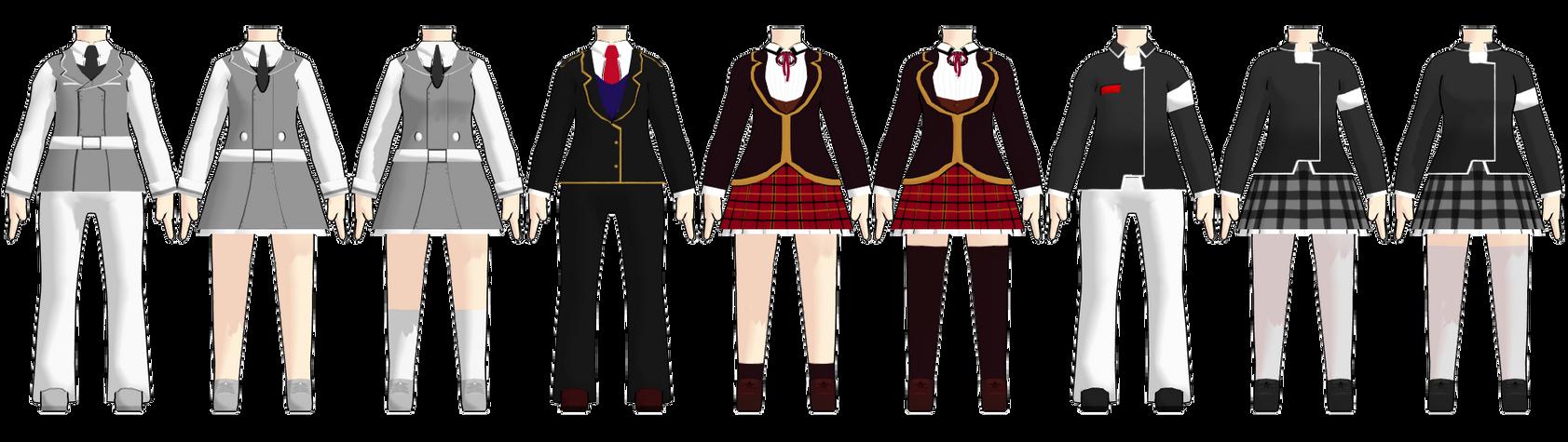 MMD Chibi RWBY School Uniform DL by 2234083174 on DeviantArt