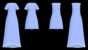 MMD Simple Gown DL